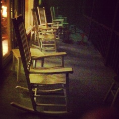the greatest medicine around = rocking chairs at the mountain house in North Carolina. guaranteed to soothe this road-weary heart.